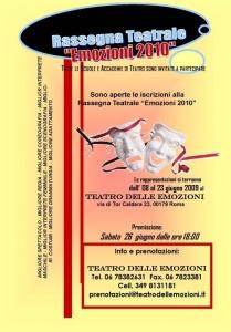 In scena al Teatro delle Emozioni di Roma dall'8 al 23 giugno 2010