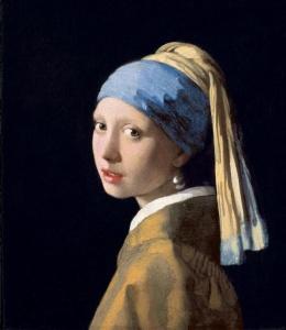 La Ragazza con l'orecchino di perla di Vermeer in mostra presso Palazzo Fava a Bologna.