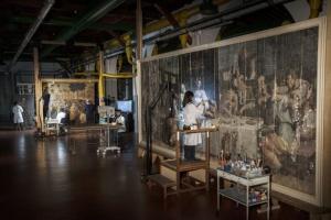 L'Ultima Cena di Giorgio Vasari in restauro presso l'Opificio delle Pietre Dure di Firenze
