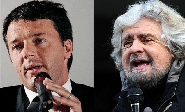 Renzi e Grillo Paolo Palazzi